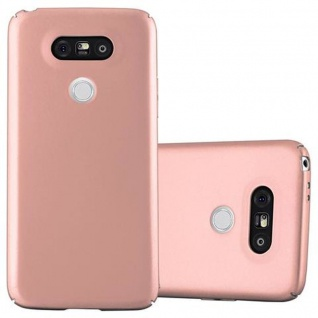 Cadorabo Hülle für LG G5 in METALL ROSE GOLD - Hardcase Handyhülle aus Plastik gegen Kratzer und Stöße - Schutzhülle Bumper Ultra Slim Back Case Hard Cover