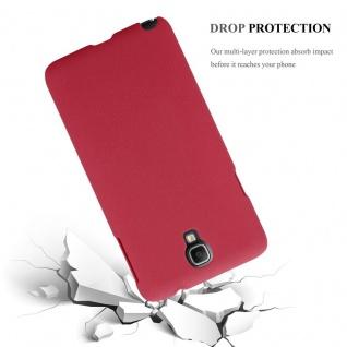 Cadorabo Hülle für Samsung Galaxy NOTE 3 NEO in FROSTY ROT - Hardcase Handyhülle aus Plastik gegen Kratzer und Stöße - Schutzhülle Bumper Ultra Slim Back Case Hard Cover - Vorschau 4