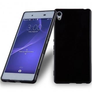 Cadorabo Hülle für Sony Xperia Z3 PLUS / Z4 in SCHWARZ - Handyhülle aus flexiblem TPU Silikon - Silikonhülle Schutzhülle Ultra Slim Soft Back Cover Case Bumper