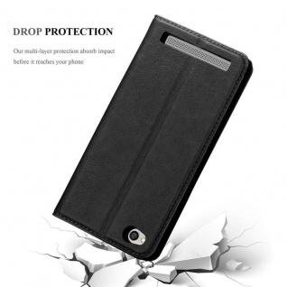 Cadorabo Hülle für Xiaomi RedMi 5A in NACHT SCHWARZ - Handyhülle mit Magnetverschluss, Standfunktion und Kartenfach - Case Cover Schutzhülle Etui Tasche Book Klapp Style - Vorschau 5