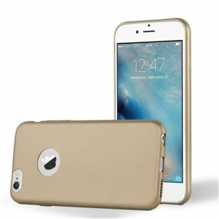 Cadorabo Hülle für Apple iPhone 6 PLUS / iPhone 6S PLUS - Hülle in METALLIC GOLD ? Handyhülle aus TPU Silikon im Matt Metallic Design - Ultra Slim Soft Backcover Case Bumper