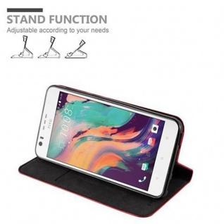Cadorabo Hülle für HTC Desire 10 LIFESTYLE / Desire 825 in APFEL ROT - Handyhülle mit Magnetverschluss, Standfunktion und Kartenfach - Case Cover Schutzhülle Etui Tasche Book Klapp Style - Vorschau 3
