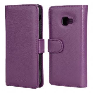 Cadorabo Hülle für Samsung Galaxy XCover 4 in BORDEAUX LILA ? Handyhülle mit Magnetverschluss und 3 Kartenfächern ? Case Cover Schutzhülle Etui Tasche Book Klapp Style - Vorschau 3