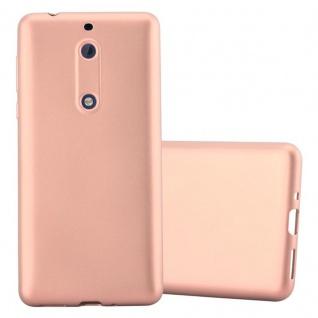 Cadorabo Hülle für Nokia 5 2017 in METALLIC ROSE GOLD - Handyhülle aus flexiblem TPU Silikon - Silikonhülle Schutzhülle Ultra Slim Soft Back Cover Case Bumper
