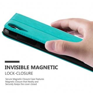 Cadorabo Hülle für HTC Desire 10 LIFESTYLE / Desire 825 in PETROL TÜRKIS - Handyhülle mit Magnetverschluss, Standfunktion und Kartenfach - Case Cover Schutzhülle Etui Tasche Book Klapp Style - Vorschau 5