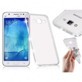 Cadorabo Hülle für Samsung Galaxy J5 - Hülle in TRANSPARENT WEIß ? Handyhülle aus TPU Silikon im Strass Design - Silikonhülle Schutzhülle Ultra Slim Soft Back Cover Case Bumper
