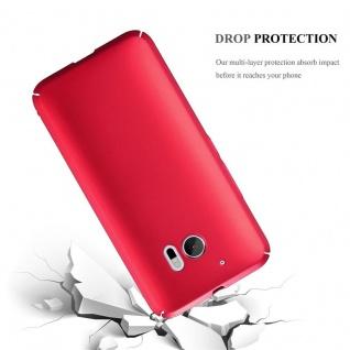 Cadorabo Hülle für HTC 10 (One M10) in METALL ROT ? Hardcase Handyhülle aus Plastik gegen Kratzer und Stöße ? Schutzhülle Bumper Ultra Slim Back Case Hard Cover - Vorschau 3