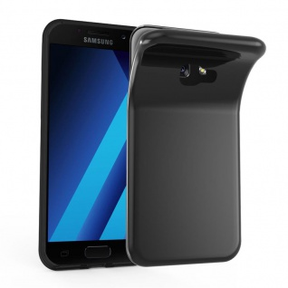 Cadorabo Hülle für Samsung Galaxy A7 2017 in SCHWARZ - Handyhülle aus flexiblem TPU Silikon - Silikonhülle Schutzhülle Ultra Slim Soft Back Cover Case Bumper