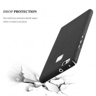 Cadorabo Hülle für Huawei P9 LITE in FROSTY SCHWARZ - Hardcase Handyhülle aus Plastik gegen Kratzer und Stöße - Schutzhülle Bumper Ultra Slim Back Case Hard Cover - Vorschau 4