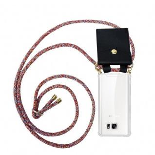 Cadorabo Handy Kette für Samsung Galaxy NOTE 5 in COLORFUL PARROT - Silikon Necklace Umhänge Hülle mit Gold Ringen, Kordel Band Schnur und abnehmbarem Etui ? Schutzhülle