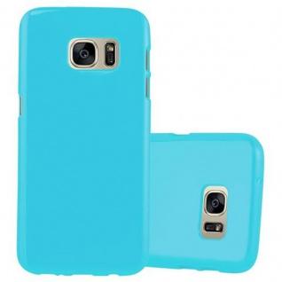 Cadorabo Hülle für Samsung Galaxy S7 in JELLY HELL BLAU ? Handyhülle aus flexiblem TPU Silikon ? Silikonhülle Schutzhülle Ultra Slim Soft Back Cover Case Bumper