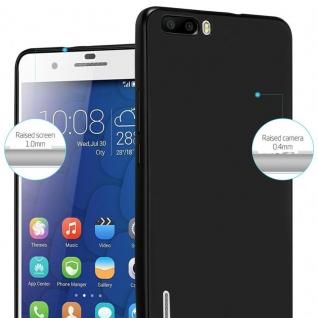 Cadorabo Hülle für Honor 6 PLUS in METALLIC SCHWARZ - Handyhülle aus flexiblem TPU Silikon - Silikonhülle Schutzhülle Ultra Slim Soft Back Cover Case Bumper - Vorschau 4