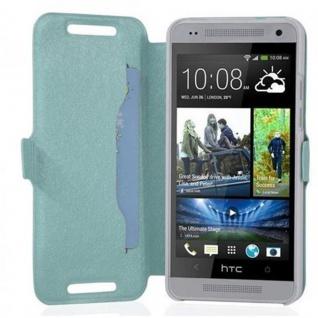 Cadorabo Hülle für HTC ONE MINI M4 (1.Gen.) - Hülle in ICY BLAU ? Handyhülle mit Standfunktion und Kartenfach im Ultra Slim Design - Case Cover Schutzhülle Etui Tasche Book - Vorschau 2