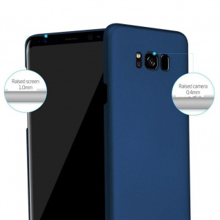 Cadorabo Hülle für Samsung Galaxy S8 PLUS in METALL BLAU - Hardcase Handyhülle aus Plastik gegen Kratzer und Stöße - Schutzhülle Bumper Ultra Slim Back Case Hard Cover - Vorschau 2