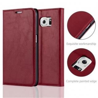 Cadorabo Hülle für Samsung Galaxy S6 in APFEL ROT - Handyhülle mit Magnetverschluss, Standfunktion und Kartenfach - Case Cover Schutzhülle Etui Tasche Book Klapp Style - Vorschau 2