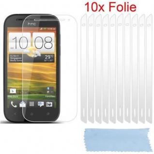 Cadorabo Displayschutzfolien für HTC ONE SV - Schutzfolien in HIGH CLEAR ? 10 Stück hochtransparenter Schutzfolien gegen Staub, Schmutz und Kratzer