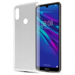 Cadorabo Hülle für Huawei Y6 2019 in VOLL TRANSPARENT - Handyhülle aus flexiblem TPU Silikon - Silikonhülle Schutzhülle Ultra Slim Soft Back Cover Case Bumper