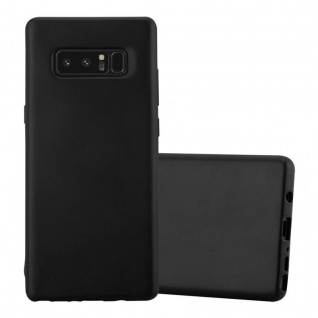 Cadorabo Hülle für Samsung Galaxy NOTE 8 in METALLIC SCHWARZ - Handyhülle aus flexiblem TPU Silikon - Silikonhülle Schutzhülle Ultra Slim Soft Back Cover Case Bumper