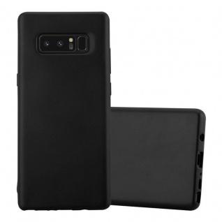 Cadorabo Hülle für Samsung Galaxy NOTE 8 in METALLIC SCHWARZ Handyhülle aus flexiblem TPU Silikon Silikonhülle Schutzhülle Ultra Slim Soft Back Cover Case Bumper