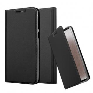 Cadorabo Hülle für HTC Desire 820 in CLASSY SCHWARZ - Handyhülle mit Magnetverschluss, Standfunktion und Kartenfach - Case Cover Schutzhülle Etui Tasche Book Klapp Style
