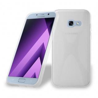 Cadorabo Hülle für Samsung Galaxy A5 2017 in HALB TRANSPARENT ? Handyhülle aus flexiblem TPU Silikon ? Silikonhülle Schutzhülle Ultra Slim Soft Back Cover Case Bumper