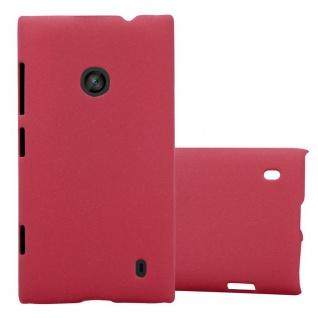 Cadorabo Hülle für Nokia Lumia 520 in FROSTY ROT Hardcase Handyhülle aus Plastik gegen Kratzer und Stöße Schutzhülle Bumper Ultra Slim Back Case Hard Cover