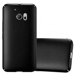 Cadorabo Hülle für HTC 10 (One M10) in METALL SCHWARZ - Hardcase Handyhülle aus Plastik gegen Kratzer und Stöße - Schutzhülle Bumper Ultra Slim Back Case Hard Cover