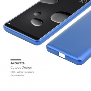 Cadorabo Hülle für Huawei MATE 10 PRO in METALLIC BLAU - Handyhülle aus flexiblem TPU Silikon - Silikonhülle Schutzhülle Ultra Slim Soft Back Cover Case Bumper - Vorschau 5