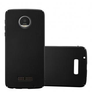Cadorabo Hülle für Motorola MOTO Z PLAY in METALL SCHWARZ - Hardcase Handyhülle aus Plastik gegen Kratzer und Stöße - Schutzhülle Bumper Ultra Slim Back Case Hard Cover