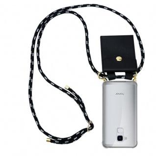 Cadorabo Handy Kette für Honor 5C in SCHWARZ SILBER Silikon Necklace Umhänge Hülle mit Gold Ringen, Kordel Band Schnur und abnehmbarem Etui Schutzhülle