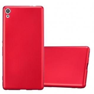 Cadorabo Hülle für Sony Xperia XA ULTRA in METALLIC ROT - Handyhülle aus flexiblem TPU Silikon - Silikonhülle Schutzhülle Ultra Slim Soft Back Cover Case Bumper