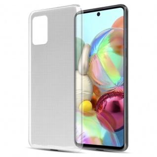 Cadorabo Hülle für Samsung Galaxy A71 5G in VOLL TRANSPARENT Handyhülle aus flexiblem TPU Silikon Silikonhülle Schutzhülle Ultra Slim Soft Back Cover Case Bumper