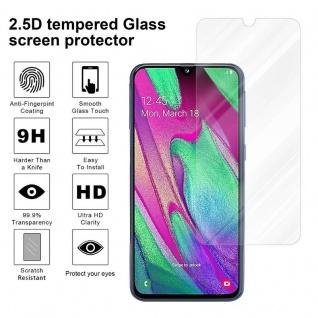 Cadorabo Panzer Folie für Samsung Galaxy A40 - Schutzfolie in KRISTALL KLAR - Gehärtetes (Tempered) Display-Schutzglas in 9H Härte mit 3D Touch Kompatibilität - Vorschau 4