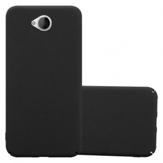 Cadorabo Hülle für Nokia Lumia 650 in FROSTY SCHWARZ Hardcase Handyhülle aus Plastik gegen Kratzer und Stöße Schutzhülle Bumper Ultra Slim Back Case Hard Cover