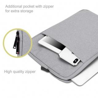 """"""" Cadorabo Laptop / Tablet Tasche 14'"""" Zoll in GRAU ? Notebook Computer Tasche aus Stoff mit Samt-Innenfutter und Fach mit Anti-Kratz Reißverschluss ? Schutzhülle Sleeve Case"""" - Vorschau 2"""