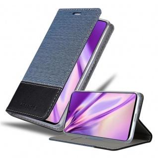 Cadorabo Hülle für Samsung Galaxy A71 in DUNKEL BLAU SCHWARZ Handyhülle mit Magnetverschluss, Standfunktion und Kartenfach Case Cover Schutzhülle Etui Tasche Book Klapp Style