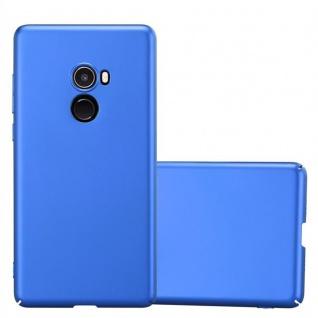 Cadorabo Hülle für Xiaomi Mi Mix 2 in METALL BLAU - Hardcase Handyhülle aus Plastik gegen Kratzer und Stöße - Schutzhülle Bumper Ultra Slim Back Case Hard Cover