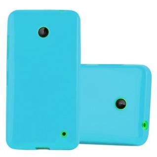 Cadorabo Hülle für Nokia Lumia 630 / 635 in JELLY HELL BLAU - Handyhülle aus flexiblem TPU Silikon - Silikonhülle Schutzhülle Ultra Slim Soft Back Cover Case Bumper