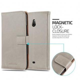 Cadorabo Hülle für Nokia Lumia 1320 in CAPPUCINO BRAUN - Handyhülle mit Magnetverschluss, Standfunktion und Kartenfach - Case Cover Schutzhülle Etui Tasche Book Klapp Style - Vorschau 2