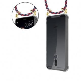 Cadorabo Handy Kette für Huawei MATE 10 / NOVA 2i in ROT BLAU WEISS - Silikon Necklace Umhänge Hülle mit Gold Ringen, Kordel Band Schnur und abnehmbarem Etui ? Schutzhülle - Vorschau 5