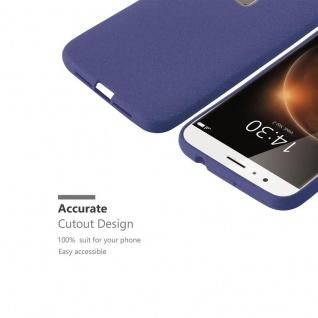 Cadorabo Hülle für Huawei G7 PLUS / G8 / GX8 in FROST DUNKEL BLAU - Handyhülle aus flexiblem TPU Silikon - Silikonhülle Schutzhülle Ultra Slim Soft Back Cover Case Bumper - Vorschau 3