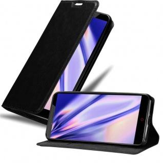 Cadorabo Hülle für ZTE Nubia Z11 MAX in NACHT SCHWARZ - Handyhülle mit Magnetverschluss, Standfunktion und Kartenfach - Case Cover Schutzhülle Etui Tasche Book Klapp Style