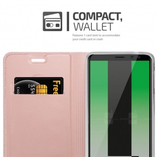 Cadorabo Hülle für Huawei MATE 10 LITE in CLASSY ROSÉ GOLD - Handyhülle mit Magnetverschluss, Standfunktion und Kartenfach - Case Cover Schutzhülle Etui Tasche Book Klapp Style - Vorschau 3