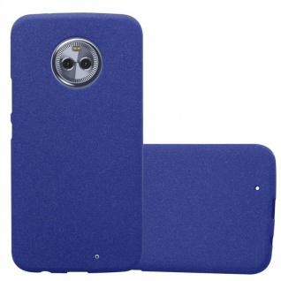 Cadorabo Hülle für Motorola MOTO X4 in FROST DUNKEL BLAU - Handyhülle aus flexiblem TPU Silikon - Silikonhülle Schutzhülle Ultra Slim Soft Back Cover Case Bumper
