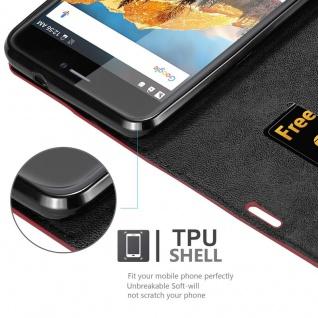 Cadorabo Hülle für Cubot MAX in APFEL ROT Handyhülle mit Magnetverschluss, Standfunktion und Kartenfach Case Cover Schutzhülle Etui Tasche Book Klapp Style - Vorschau 2