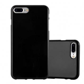 Cadorabo Hülle für Apple iPhone 8 PLUS / iPhone 7 PLUS / iPhone 7S PLUS - Hülle in JELLY SCHWARZ ? Handyhülle aus TPU Silikon im Jelly Design - Ultra Slim Soft Backcover Case Bumper