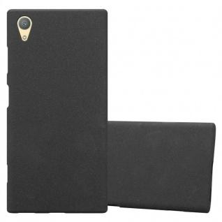Cadorabo Hülle für Sony Xperia XA1 PLUS in FROST SCHWARZ - Handyhülle aus flexiblem TPU Silikon - Silikonhülle Schutzhülle Ultra Slim Soft Back Cover Case Bumper
