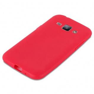 Cadorabo Hülle für Samsung Galaxy J1 2015 in CANDY ROT - Handyhülle aus flexiblem TPU Silikon - Silikonhülle Schutzhülle Ultra Slim Soft Back Cover Case Bumper - Vorschau 4