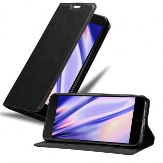 Cadorabo Hülle für Xiaomi RedMi 5A in NACHT SCHWARZ Handyhülle mit Magnetverschluss, Standfunktion und Kartenfach Case Cover Schutzhülle Etui Tasche Book Klapp Style