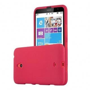 Cadorabo Hülle für Nokia Lumia 1320 in FROST ROT - Handyhülle aus flexiblem TPU Silikon - Silikonhülle Schutzhülle Ultra Slim Soft Back Cover Case Bumper